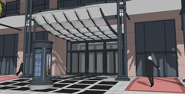 Renovations rendering of entrance